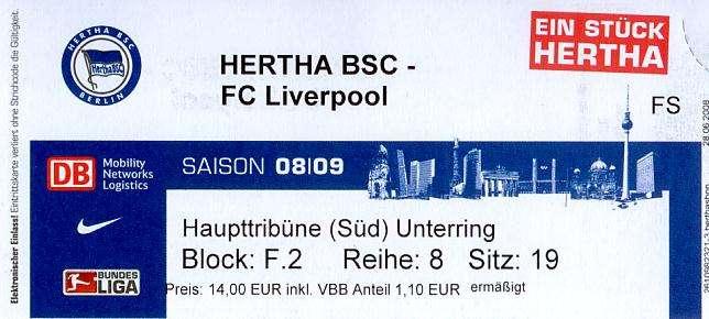 Hertha Liverpool Tickets